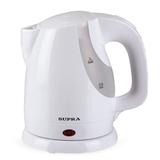Чайник SUPRA KES-1021, закрытый нагревательный элемент, объем 1 л, мощность 1300 Вт, пластик, белый