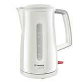 Чайник BOSCH TWK3A011, закрытый нагревательный элемент, объем 1,7 л, мощность 2400 Вт, пластик, белый