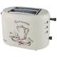 Тостер SCARLETT SC-TM11001, мощность 800 Вт, 2 тоста, механическое управление, функция разморозки, пластик