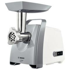 Мясорубка BOSCH MFW45020, мощность 1600 Вт, производительность 2,7 кг/<wbr/>мин, металлический шнек, реверс, пластик, белая/<wbr/>серая