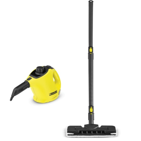 Пароочиститель KARCHER SC1 Premium+Floor Kit (с насадкой для пола), 1200 Вт, 3 бар, 0,25 л, 1.516-226.0