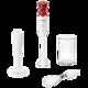 Блендер погружной BOSCH MSM64035, мощность 450 Вт, 2 скорости, насадка для пюре, венчик, белый/<wbr/>красный