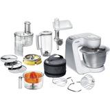 Кухонный комбайн BOSCH MUM54240, мощность 900 Вт, 7 скоростей, блендер, мясорубка, 6 насадок, белый