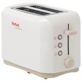 Тостер TEFAL TT357130, мощность 850 Вт, 2 тоста, электронное управление, разморозка, подогрев, пластик, белый