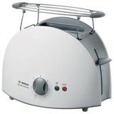 Тостер BOSCH TAT6101, мощность 900 Вт, 2 тоста, механическое управление, разморозка, подогрев, решетка для булочек, пластик, белый