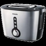 Тостер PHILIPS HD2636/<wbr/>20, мощность 1000 Вт, 2 тоста, механическое управление, разморозка, подогрев, решетка для булочек, сталь