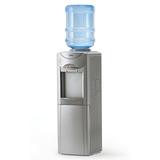 Кулер для воды AEL LC-AEL-326c silver, напольный, нагрев/<wbr/>охлаждение, шкафчик 12 л, 2 крана, серебристый