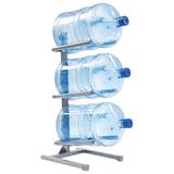 Стеллаж для хранения воды AEL, Россия, для 3 бутылей, металл, серый