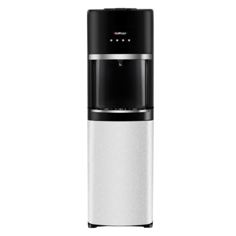 Кулер для воды HOT FROST 35AN, напольный, нагрев/<wbr/>охлаждение, 1 кран (3 кнопки), серебристый/<wbr/>черный