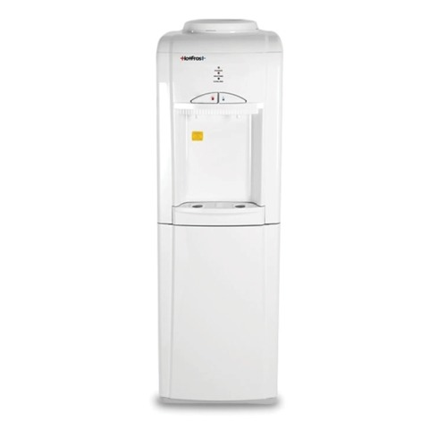 Кулер для воды HOT FROST V802CE, напольный, нагрев/охлаждение, шкафчик 14 л, 2 крана, белый
