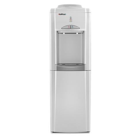 Кулер для воды HOT FROST V802CES, напольный, нагрев/охлаждение, шкафчик 14 л, 2 крана, серебристый