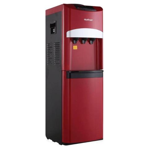 Кулер для воды HOT FROST V127 Red, напольный, нагрев/<wbr/>охлаждение, 3 крана, красный/<wbr/>черный