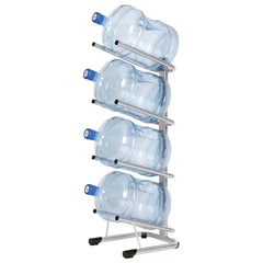 Стеллаж для хранения воды HOT FROST, на 4 бутыли, металл, серебристый
