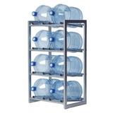 Стеллаж для хранения воды HOT FROST, для 8 бутылей, металл, серебристый