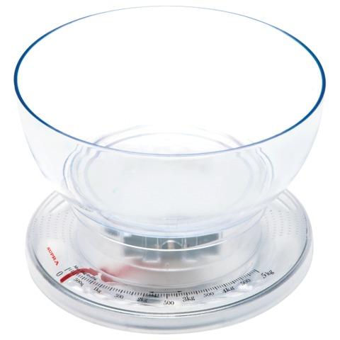 Весы кухонные SUPRA BSS-4050, механические, с чашей, максимальная нагрузка 5 кг, пластик