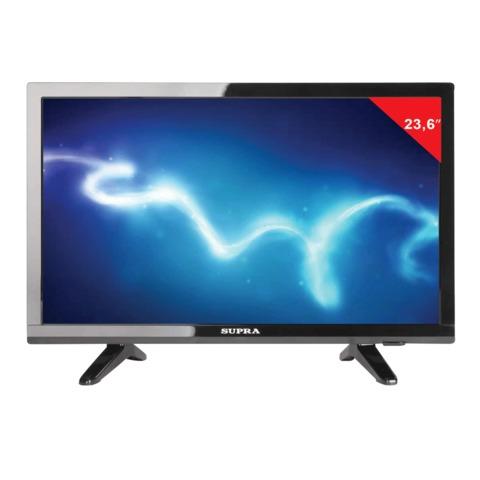 """Телевизор LED 23,6"""" SUPRA STV-LC24T660WL,1366×768, HD Redy, 16:9, 50 Гц, HDMI, USB, черный, 5,4 кг"""