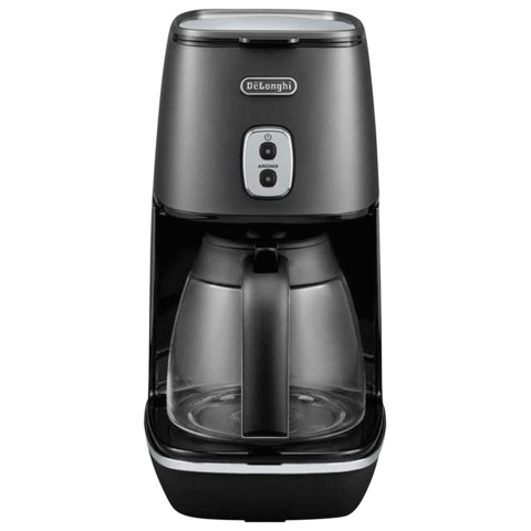 Кофеварка капельная DELONGHI ICMI211.BK, объем 1,25 л, мощность 1000 Вт, автоотключение, подогрев, пластик, черная