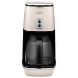 Кофеварка капельная DELONGHI ICMI211.W, объем 1,25 л, мощность 1000 Вт, автоотключение, подогрев, пластик, белая