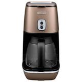 Кофеварка капельная DELONGHI ICMI211.BZ, объем 1,25 л, мощность 1000 Вт, автоотключение, подогрев, пластик, бронзовая