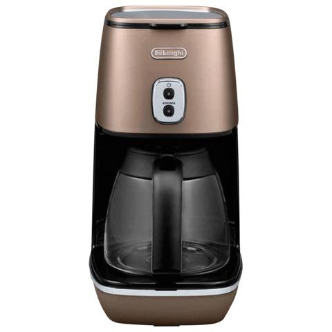 Кофеварка капельная DELONGHI ICMI211.BZ, 1000 Вт, объем 1,25 л, автоотключение, подогрев, бронзовая