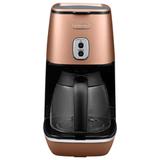 Кофеварка капельная DELONGHI ICMI211.CP, объем 1,25 л, мощность 1000 Вт, автоотключение, подогрев, пластик, медная