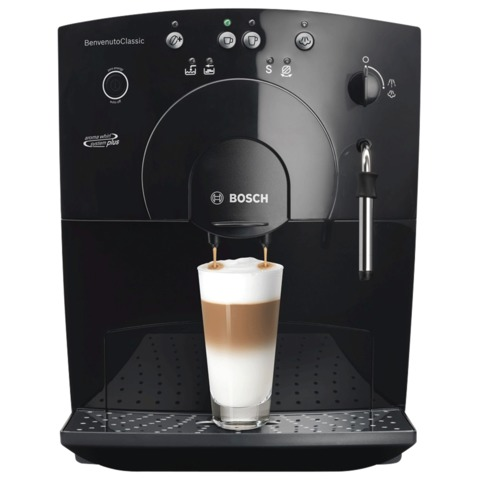 Кофемашина BOSCH TCA5309, 1400 Вт, объем 1,8 л, емкость для зерен 250 г, ручной капучинатор, черная