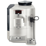 Кофемашина BOSCH TES71221RW, объем 2,1 л, мощность 1600 Вт, давление 15 бар, емкость для зерен 300 г, пластик, серебристая
