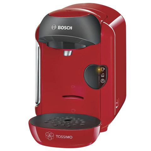 Кофемашина капсульная BOSCH TASSIMO 1253, 1300 Вт, объем 0,7 л, красная