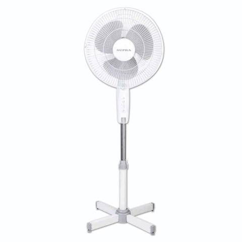 Вентилятор напольный SUPRA VS-30FL, d=30 см, 30 Вт, 3 скоростных режима, белый
