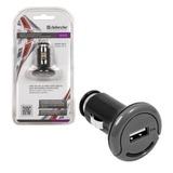 Зарядное устройство автомобильное DEFENDER UCA-03, 1 порт USB, выходной ток 2 A, черное, блистер