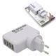 Зарядное устройство сетевое (220 В) DEFENDER UPA-04, 4 порта USB, выходной ток 2 А, белое, блистер