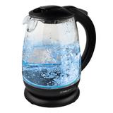 Чайник SCARLETT SC-EK27G15, закрытый нагревательный элемент, объем 1,7 л, мощность 2200 Вт, стекло, черный