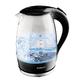 Чайник SCARLETT SC-EK27G08, закрытый нагревательный элемент, объем 1,7 л, мощность 2200 Вт, стекло, черный