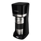 Кофеварка капельная SCARLETT SC-CM33002, объем 0,45 л, мощность 650 Вт, пластик, черная, с термокружкой