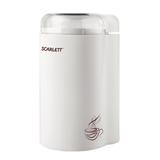 Кофемолка SCARLETT SC-CG44501, мощность 160 Вт, вместимость 65 г, пластик, белая