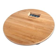 Весы напольные SCARLETT SC-BS33E061, электроннные, максимальная нагрузка 180 кг, круг, бамбук