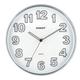 Часы настенные SCARLETT SC-55K круглые, белые, серебристая рамка, плавный ход, 30,3×30,3×4 см