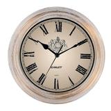 Часы настенные SCARLETT SC-27B круглые, белые, белая с золотом рамка, плавный ход, 28×28×4 см