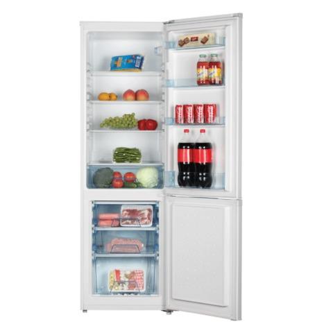 Холодильник SHIVAKI SHRF-275DW, общий объем 265 л, нижняя морозильная камера 70 л, 176×55×58 см, белый