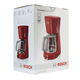 Кофеварка капельная BOSCH TKA3A034, объем 1,25 л, мощность 1100 Вт, подогрев, пластик, красная