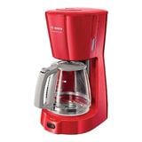 Кофеварка капельная BOSCH TKA3A034, 1100 Вт, объем 1,25 л, подогрев, красная