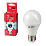 Лампа светодиодная ЭРА, 6 (40) Вт, цоколь E27, грушевидная, холодный белый свет, 25000 ч., LED smdA60-6w-840-E27ECO