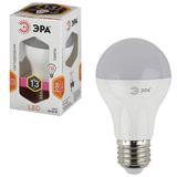 Лампа светодиодная ЭРА, 13 (110) Вт, цоколь E27, грушевидная, теплый белый, свет, 30000 ч., LED smdA65\A60-13W-827-E27