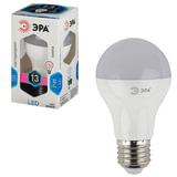 Лампа светодиодная ЭРА, 13 (110) Вт, цоколь E27, грушевидная, холодный белый свет, 30000 ч., LED smdA65-13W-840-E27
