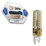 Лампа светодиодная ЭРА, 5 (50) Вт, цоколь G9, JCD, холодный белый свет, 30000 ч., LED smdJCD-5w-corn-840-G9