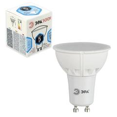 Лампа светодиодная ЭРА, 5 (35) Вт, цоколь GU10, MR16, холодный белый свет, 25000 ч., LED smdMR16-5w-840-GU10ECO