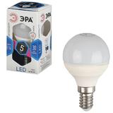 Лампа светодиодная ЭРА, 5 (40) Вт, цоколь E14, шар, холодный белый свет, 30000 ч., LED smdP45-5w-840-E14