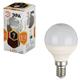 Лампа светодиодная ЭРА, 7 (60) Вт, цоколь E14, шар, теплый белый свет, 30000 ч., LED smdP45-7w-827-E14