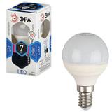Лампа светодиодная ЭРА, 7 (60) Вт, цоколь E14, шар, холодный белый свет, 30000 ч., LED smdP45-7w-840-E14