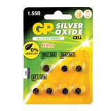 Батарейки GP (Джи-Пи) Silver Oxide, комплект 7 шт. (392/<wbr/>384 — 1 шт., 364/<wbr/>363 — 2 шт., 377/<wbr/>376 — 4 шт.), 1,5 В